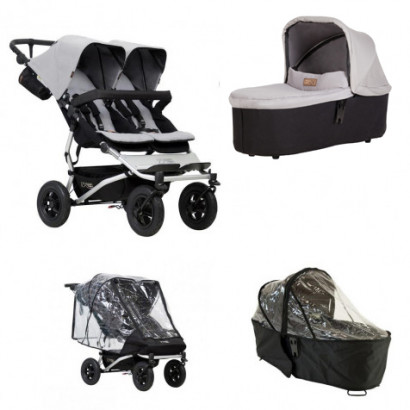 Mountain Buggy Duet silver, Bundle Duo