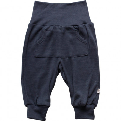 Müsli Woolly Silk Pants Boy Midnight