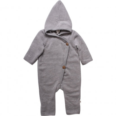 Muesli Woolly Fleece Overall, grey, Gr. 56/62