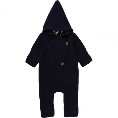 Muesli Woolly Fleece Overall, navy, Gr. 80/86