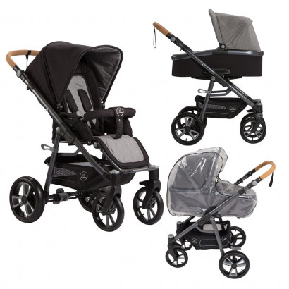 Naturkind Kinderwagen Lux, Pinguin Bundle