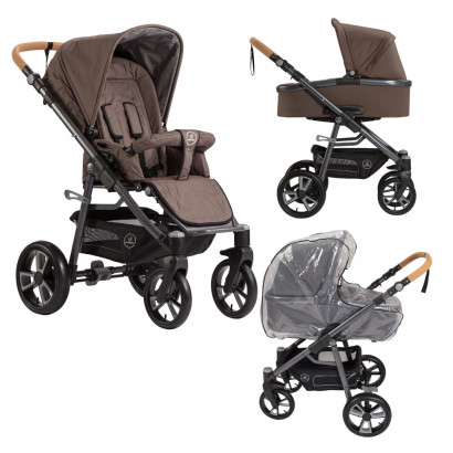 Naturkind Kinderwagen Lux, Walnuss Bundle