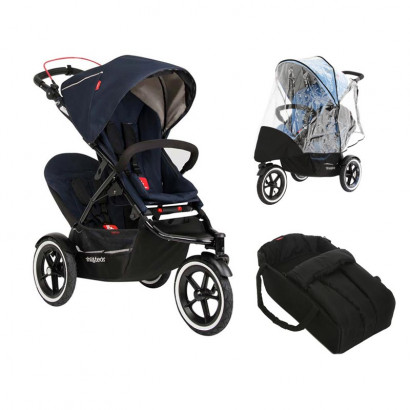 Phil and Teds Sport Geschwisterwagen midnight Bundle