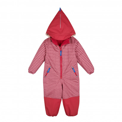 TURVA Winteroverall, pebbles rose/persian red, Gr. 90/100