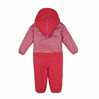 TURVA Winteroverall, pebbles rose/persian red, Gr. 100/110