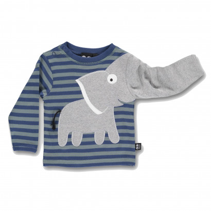 Baby Elephant Tee blue stripe