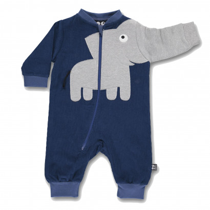 Romper Baby Elephant dark denim