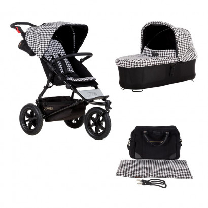 Mountain Buggy Urban Jungle luxury collection pepita Bundle - mit Babywanne und Wickeltasche